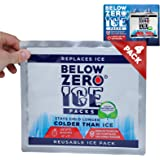 Below Zero Colder Than Ice Packs - Add Water & Freeze - 4 Pack 10x9in Longest Lasting Ice Pack for Lunch Bags, Fits Large and
