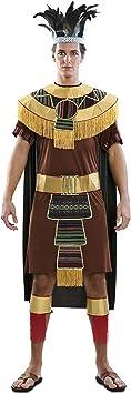EUROCARNAVALES Disfraz de Indio Azteca para Hombre: Amazon ...