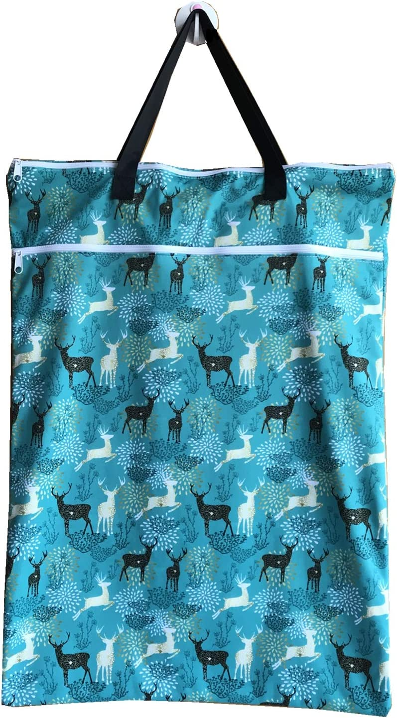 MUMBABY Large Hanging Wet//Dry Cloth Diaper Pail Bag for Reusable Diapers or Laundry About The Product Deer Head