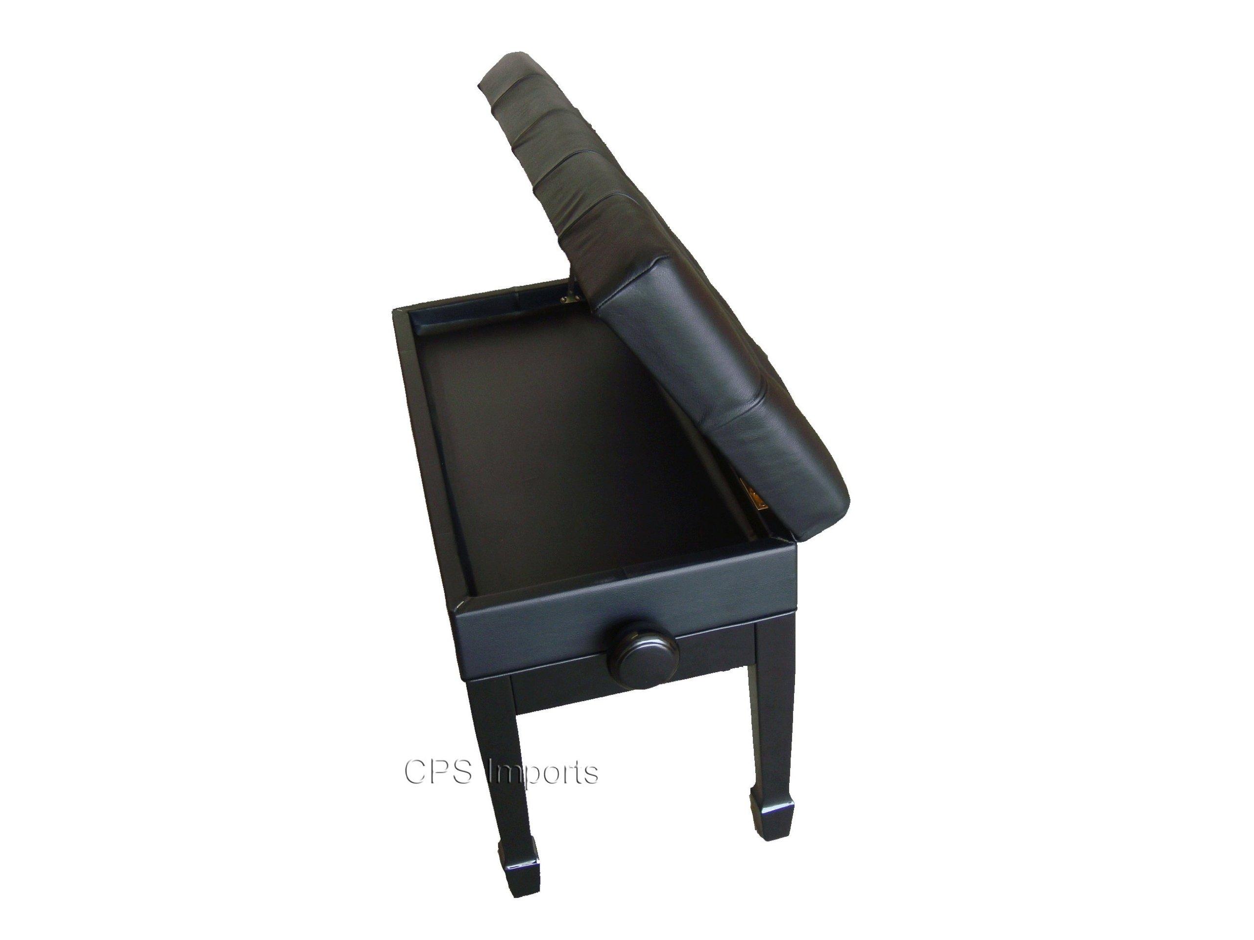 Adjustable Artist Piano Bench in Ebony