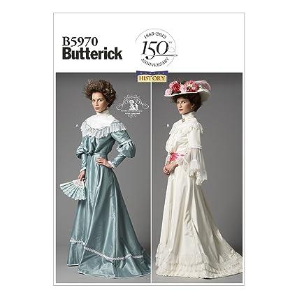 Butterick Patterns B5970 F5 - Patrones de costura para faldas y blusas de época para mujer