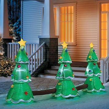 Generic Weihnachten Aufblasbar 3 Tree LED Musical Lichtspiel Airblown Yard  Dekoration