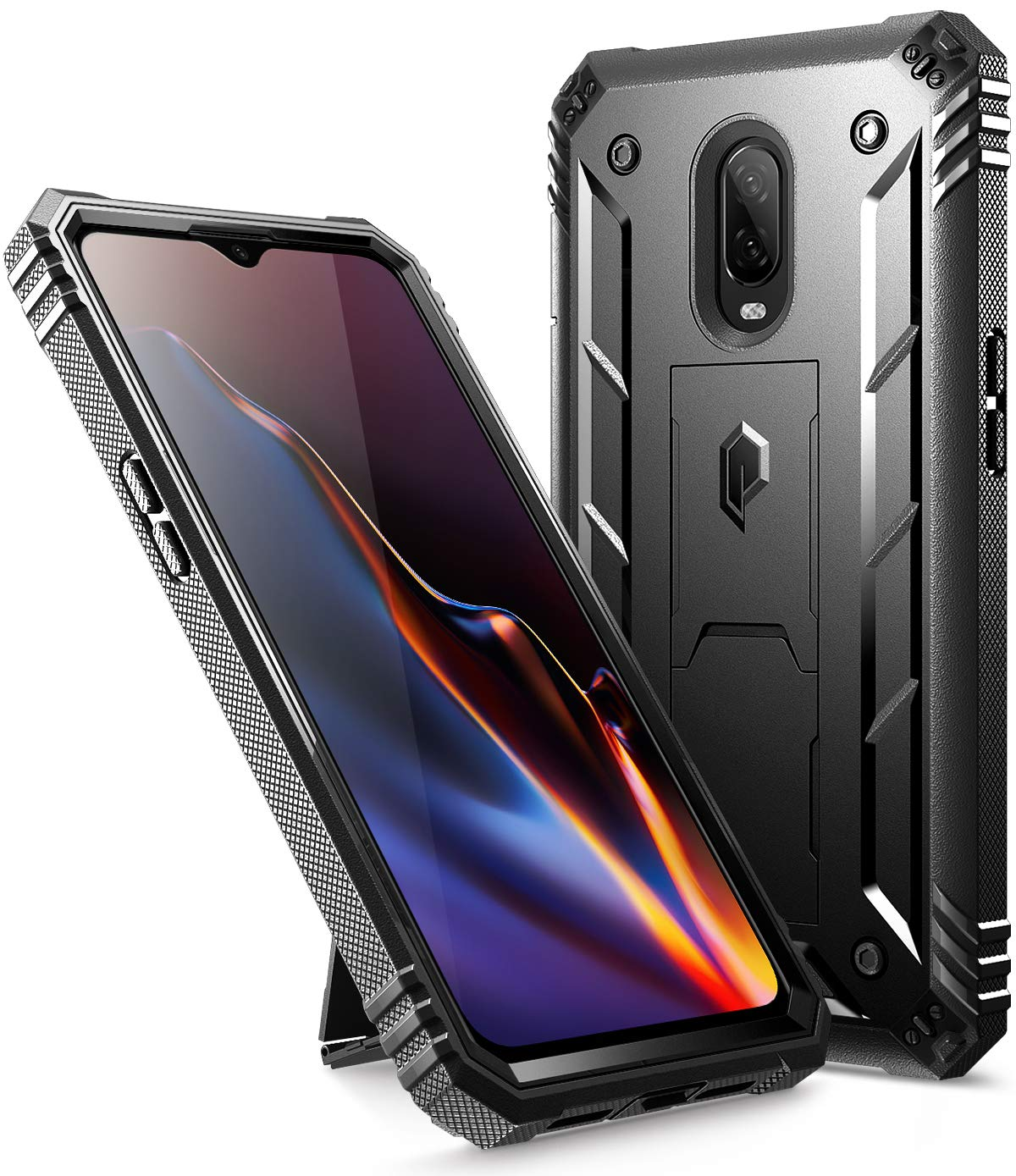 hot sale online 5e240 a9fbe POETIC OnePlus 6T Rugged Case, Revolution [360 Degree Protection] Full-Body  Rugged Heavy Duty Case with [Built-in-Screen Protector] for OnePlus 6T ...
