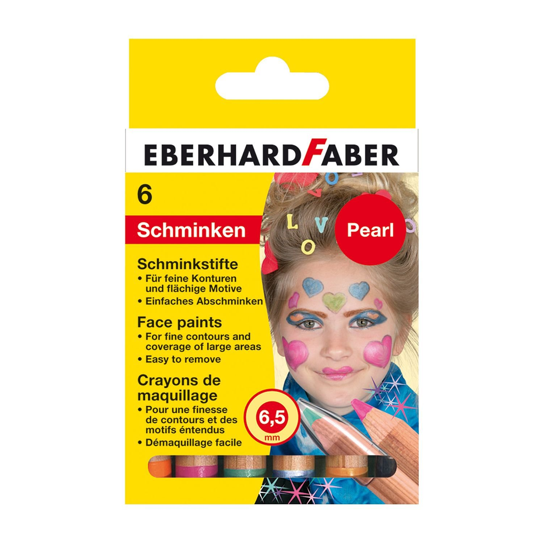 Eberhard Faber Pearl 579103 Schminkstifte, 6er Karton EF579103