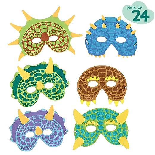 24 Piezas Máscaras para fiestas de dinosaurios, regalitos ...