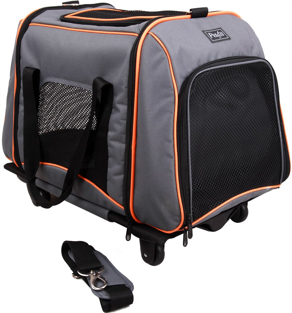 Petsfit 23x14x18 Inches Pet Carrier With Removeable Wheels Soft