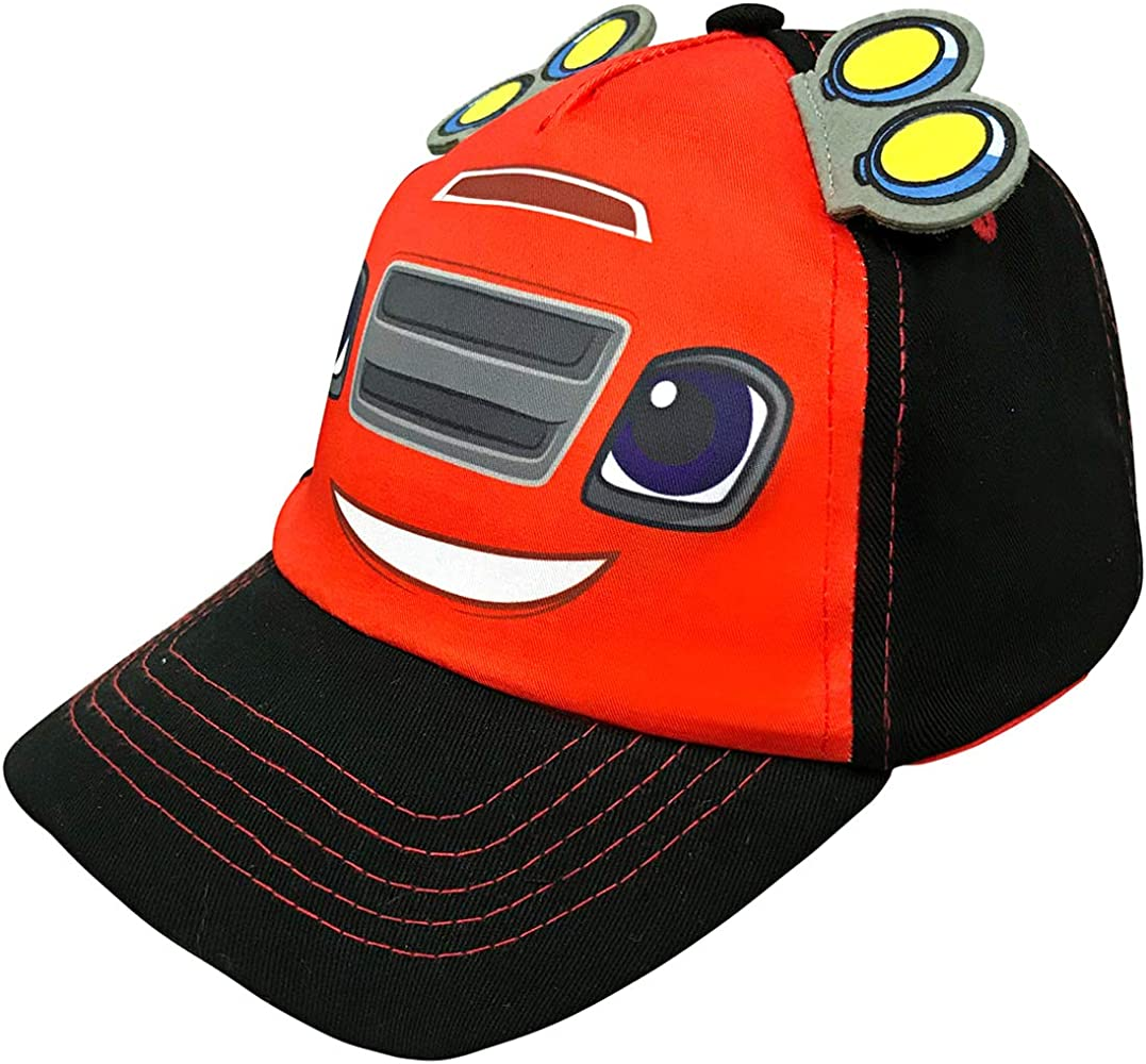 sports shoes e67fb 6ae30 Nickelodeon Toddler Boys Blaze and The Monster Machine Baseball Cap - 100%  Cotton Age 2