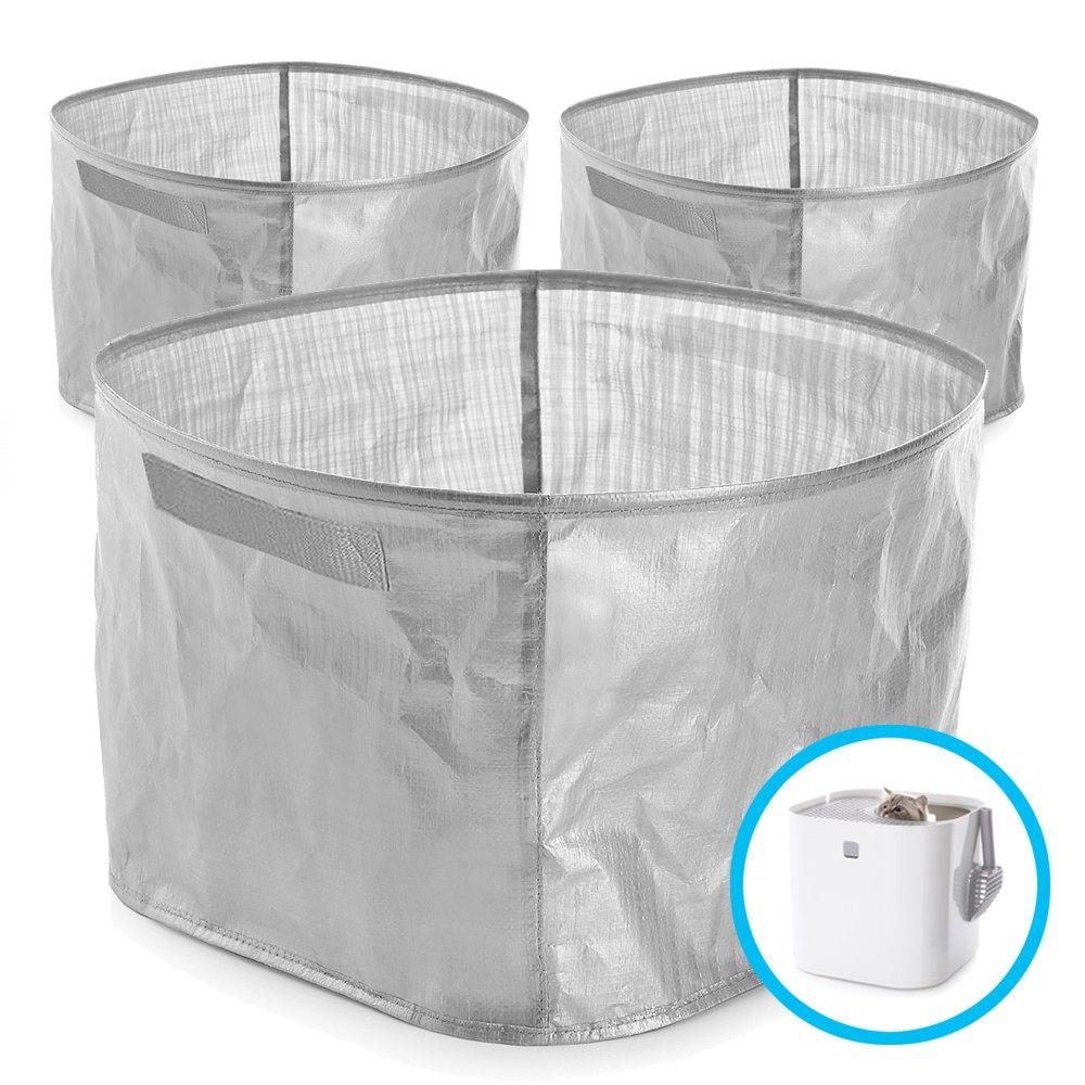 Modkat Litter Box Reusable Liner with Handles Gray