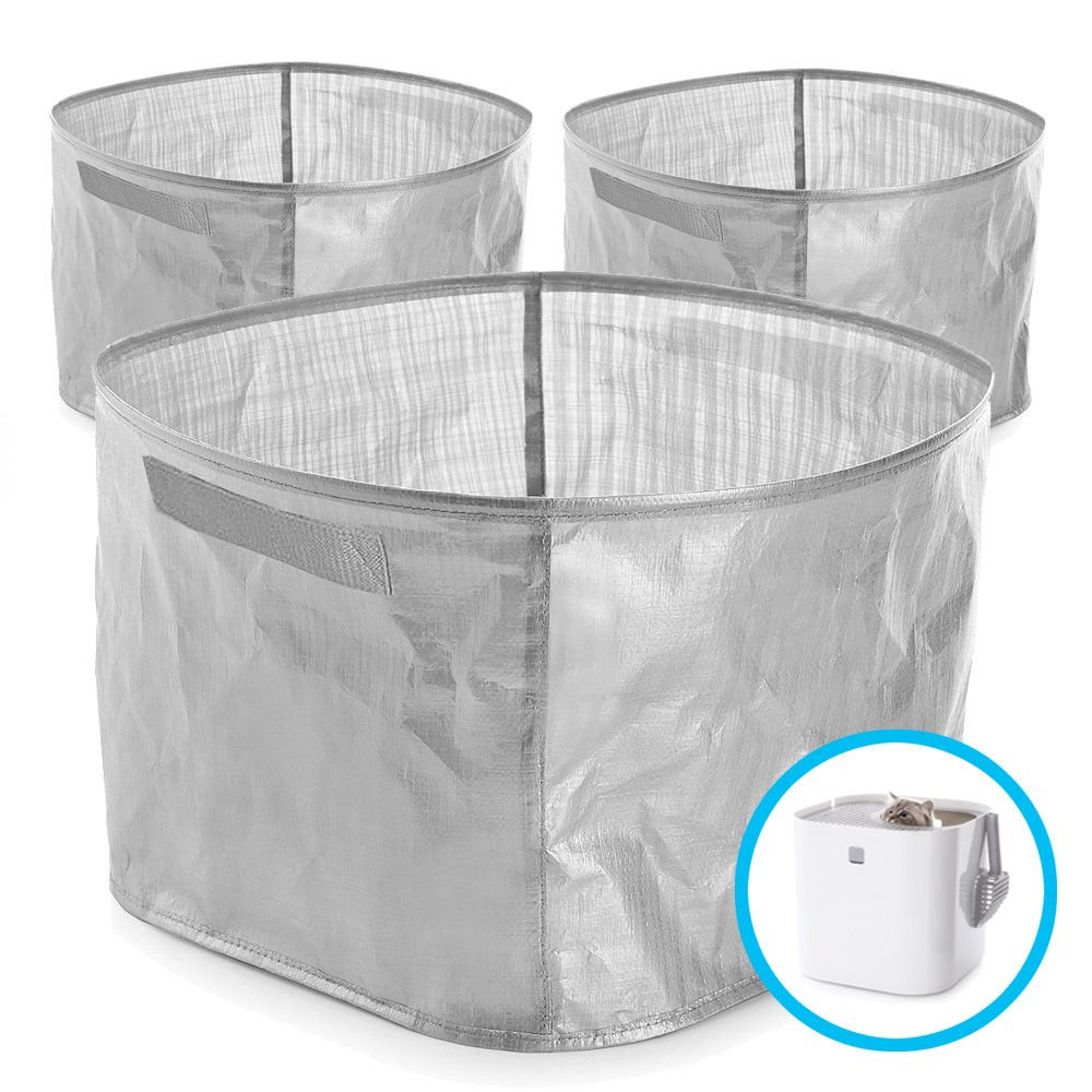 Modkat Litter Box Perfect Fit Reusable Liner with Handles - Gray (3-Pack)