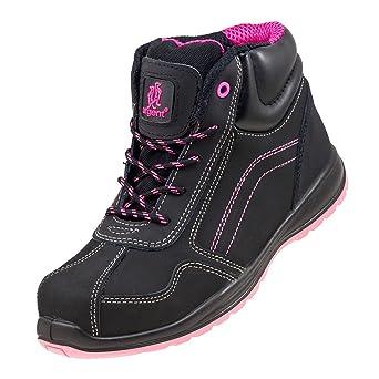 sélection premium 97469 bdf29 Chaussures de sécurité montantes légères pour femme Noir et rose Petite  tailles CHAUSSURES DE SÉCURITÉ AVEC EMBOUT EN ACIER 116 S 1. 7 UK 40 EU, 1