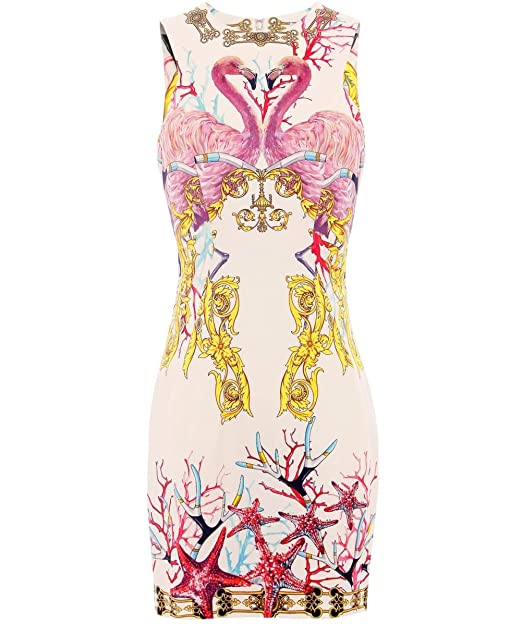 Versace Collection Vestido de Flamenco Multi Coloreada