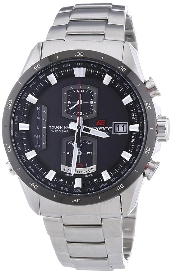 Casio EQW-A1110DB-1AER - Reloj (Reloj de pulsera, Masculino, Acero inoxidable, Acero inoxidable, Mineral, Tonneau): Amazon.es: Relojes