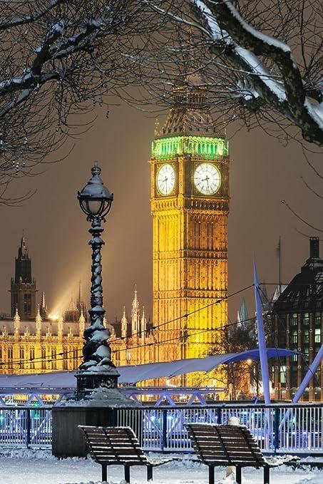 England Christmas Snow.Amazon Com Big Ben In Snow At Christmas London England Uk