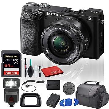 Amazon.com: Sony Alpha a6100 Cámara digital sin espejo ...