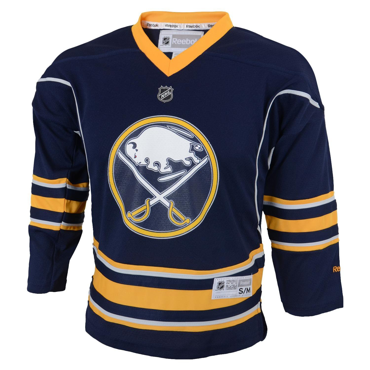 NHL Buffalo Sabres Team Color Replica Jersey Youth Navy Large/X-Large Reebok 58HWB