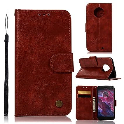 sale retailer fdd72 c3aa0 Amazon.com: Luckyandery Moto X4 leather case,Moto X4 Card Case ...