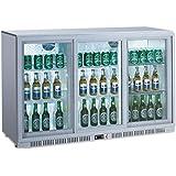 Flaschenkühlschrank mit 3 Schiebetüren Kühlschrank Getränkekühlschrank Gewerbekühlschrank 330 Liter Gastrokühlschrank