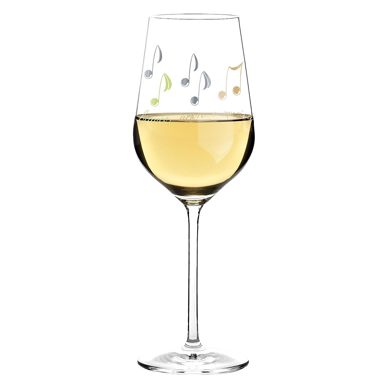 7.9 cm Platin RITZENHOFF White Wei/ßweinglas Gr/ün Kristallglas