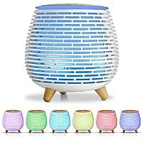 SALKING Humidificador Aceites Esenciales, Difusor de Aromaterapia, Difusor Ultrasonico de Aceites Esenciales con LED de…