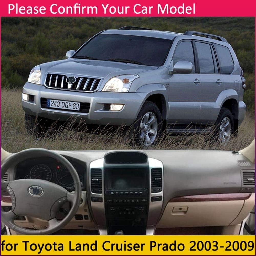 Applicable /à Toyota Land Cruiser Prado 120 J120 2003~2009 Coussin antid/érapant pour tableau de bord 2004 Accessoires 2007 Conduite du c/ôt/é droit,Polyesterblack