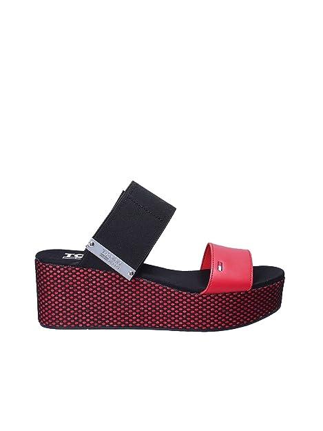 Tommy Hilfiger Sandalo su Zeppa Donna EN0EN00210 Flatform Sandal Gingham Pattern (36) Salida Recomienda GgxyozRsbF