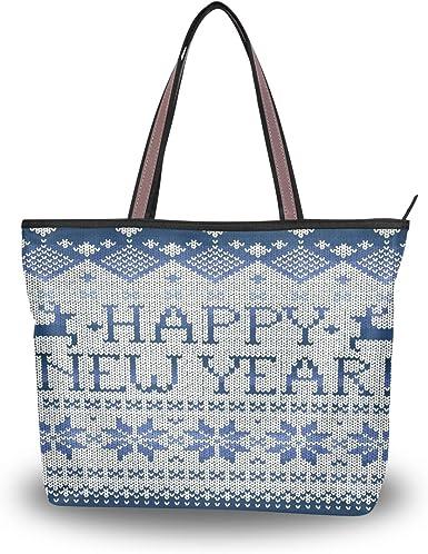 Happy Xmas Christmas Womens Fashion Large Tote Ladies Handbag Shoulder Bag