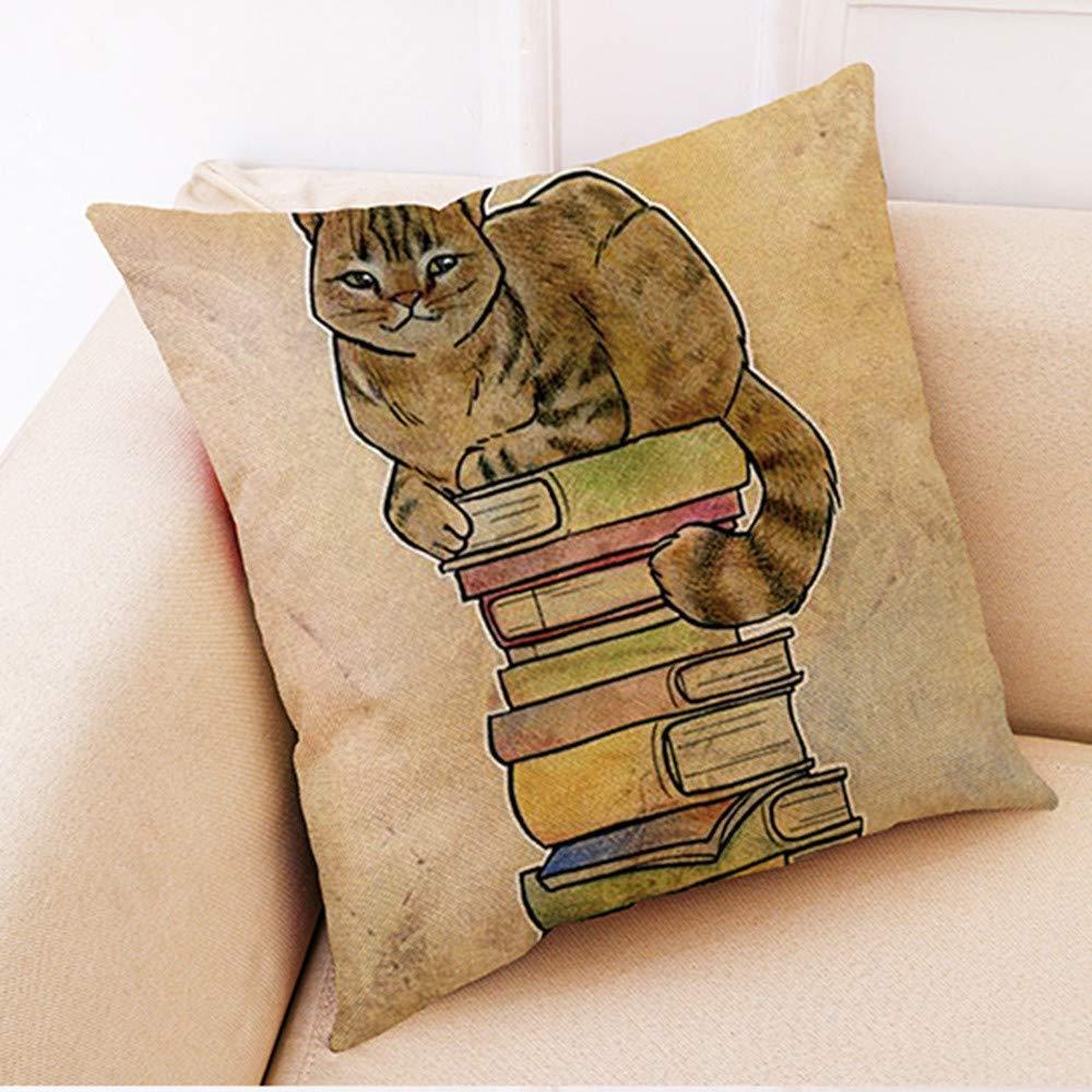 Weiliru Modern Simple Flower Style Soft Linen Burlap Square Decor Throw Pillow Covers, 18 x 18 Inch