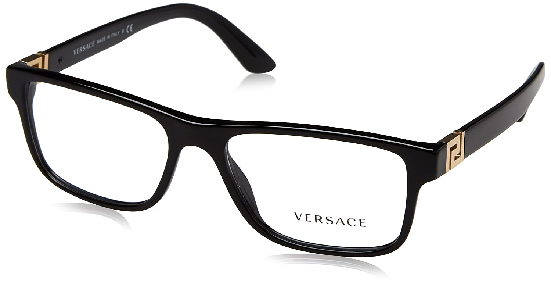 Amazon.com: Versace ve3211 Eyeglasses, Negro: Clothing