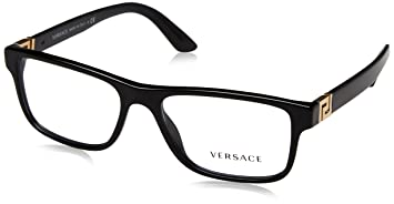 a337637c3f84 Amazon.com: MEN VERSACE EYEGLASSES VE3211 GB1 Black Frame 55-145 ...