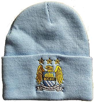 MCFC Manchester City UEFA Champions League Beanie Hat  Amazon.co.uk ... a5bed3fc6e5