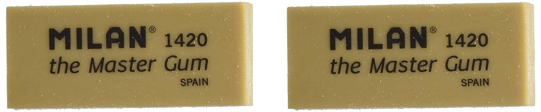 Blister 2 gomas de miga de pan Master Gum para bellas artes Milan BMM10314