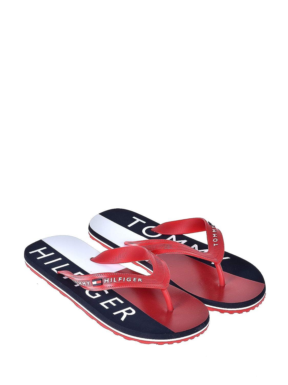 Tommy Hilfiger Herren Hilfiger Print Beach Sandal Zehentrenner