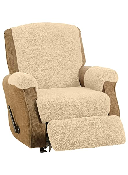 Fleece Recliner Cover, Color Natural
