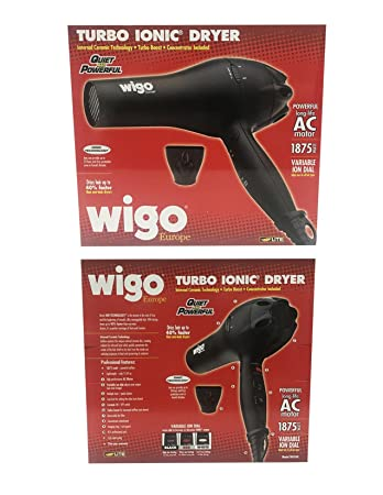 Wigo Europe Turbo Ionic 1875 Watt Dryer w/Variable Ion Dial
