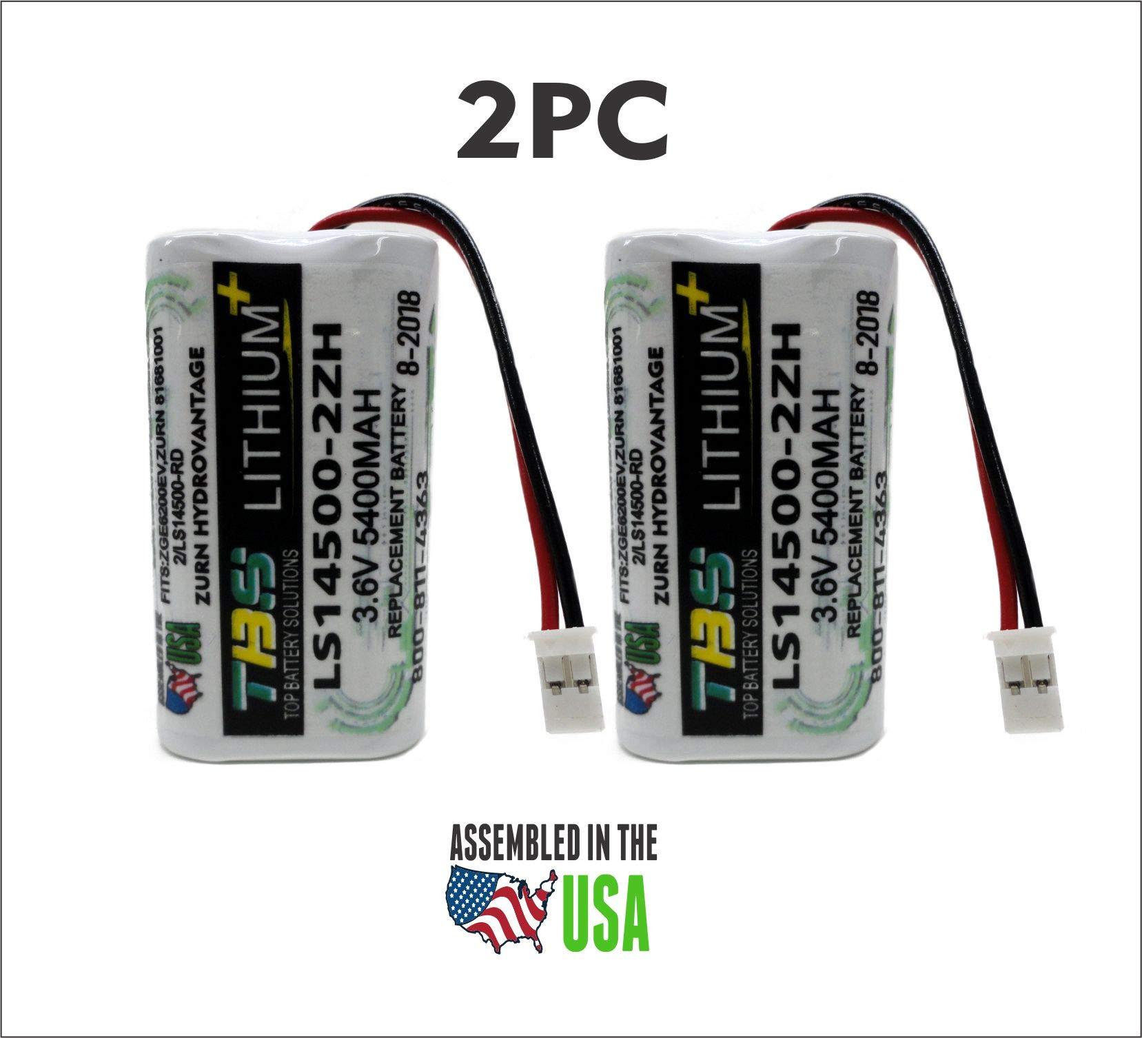 2PC Zurn HydroVantage ZGEN6200EV Battery - LS14500-2ZH / 81681001/2/LS14500-RD REPLACEMENT BATTERY