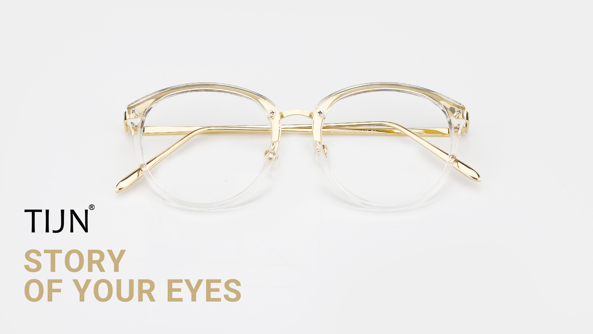 68d5d20c345 TIJN Vintage Round Metal Optical Eyewear Non-prescription Eyeglasses ...