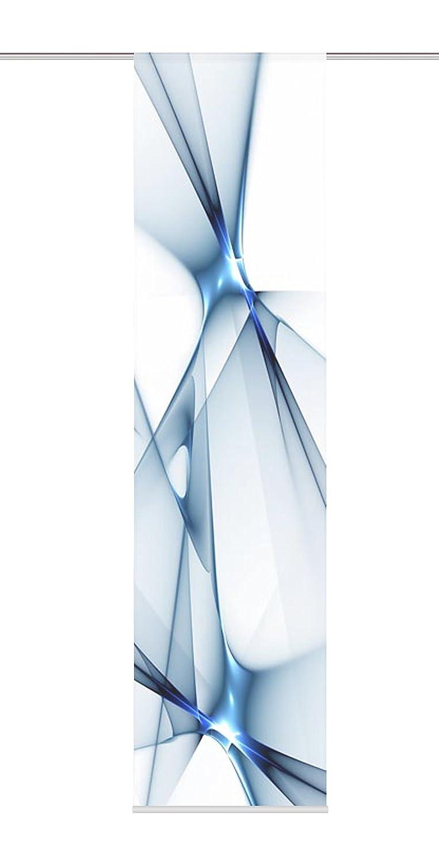 BLEU 60 cm Home Fashion 87188-706 Panneau Japonais Polyester H:245 x W
