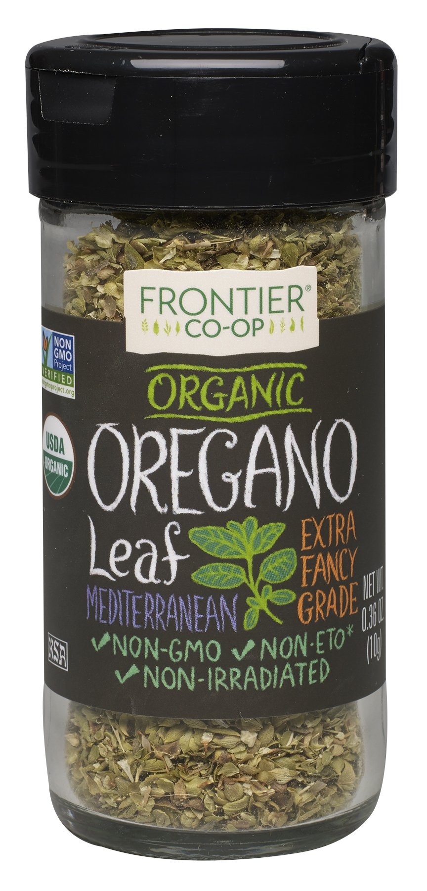 Frontier Organic Spices, Oregano Flakes, 0.36 Ounce (Pack of 6)