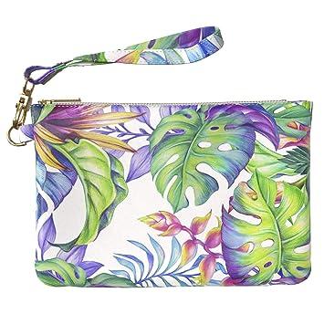 36231ec8a23d Amazon.com : Lex Altern Makeup Bag 9.5 x 6 inch Hawaiian Plants ...
