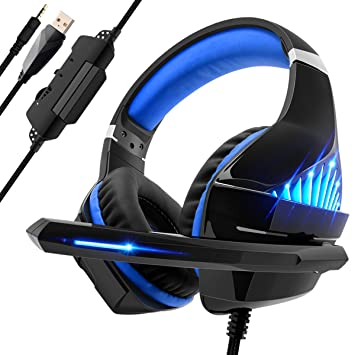 Beexcellent Casque de Gaming pour PS4 PC Xbox One, LED Bass Sourround  Comfortbale avec Microphone 3b8b9eb133db