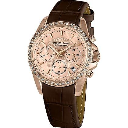 03d1d9a8ca65 Jacques Lemans – Reloj de Liverpool 1 – 1724 C pantalla analógica y piel de  oro