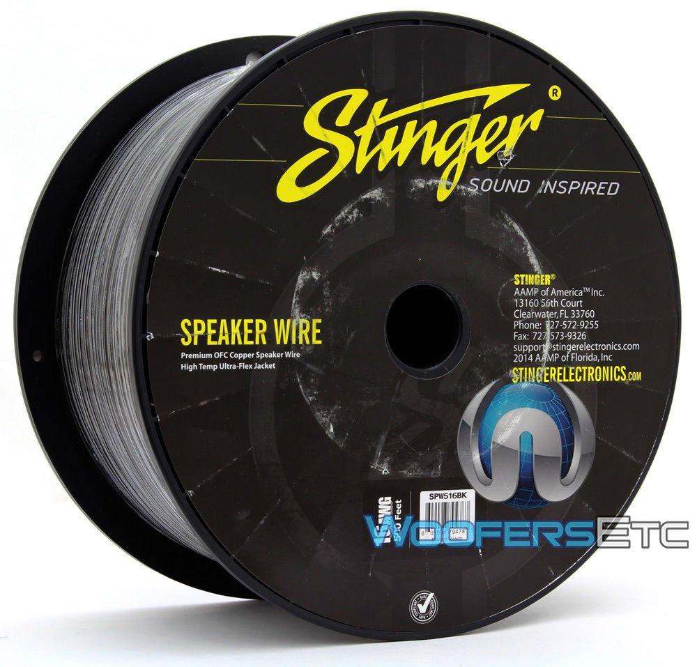 Stinger SPW516BK PRO Series 16 Gauge Primary Wire 500-Feet (Black)