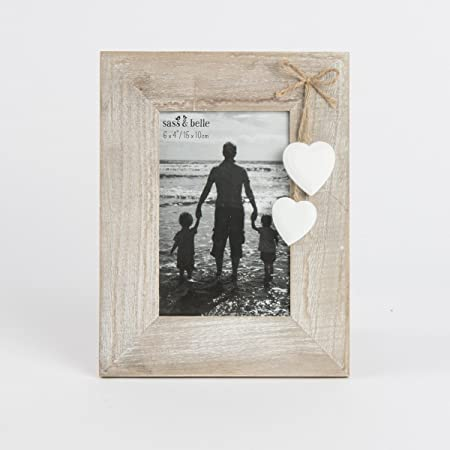 Ashley Farmhouse Standing Photo Frame Natural Wooden Portrait