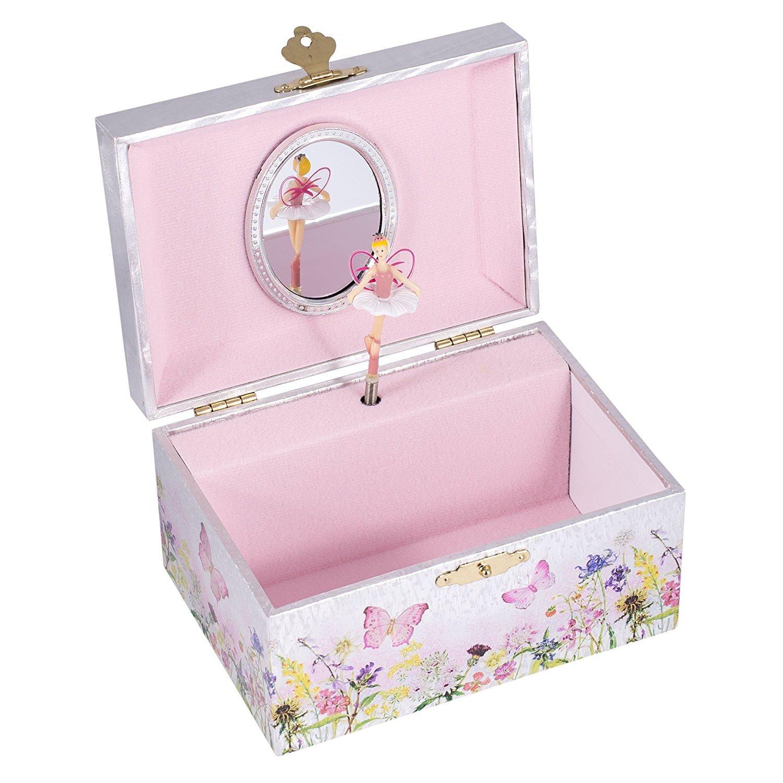 Broadway Fairy Musical Jewelry Box,Multicolor,5.75 x 3.75 x 5 5.75 x 3.75 x 5 JB019