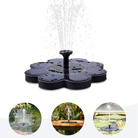 Solar Energy Floating Pump Water Fountain Bird bath Pool Garden Outdoor Decor US
