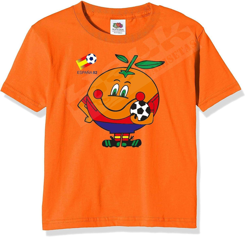 Desconocido Camiseta Naranjito. ESPAÑA 82. AÑOS 80. EGB.: Amazon.es: Ropa y accesorios