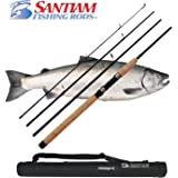Santiam Fishing Rods Travel Rod 4 Piece 8'6'' 10-20lb MF Graphite Spinning Rod