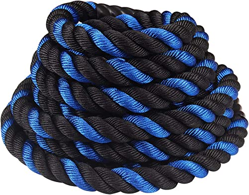 Comie Battle Ropes Pure Poly Dacron 1.5 and 2 Diameter Battle Rope for Strength and Conditioning Workouts, 30ft Options