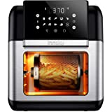 Innsky Air Fryer, 10.6-Quarts Air Oven, Rotisserie Oven, 1500W Electric Air Fryer Oven with LED Digital Touchscreen, 10-in-1