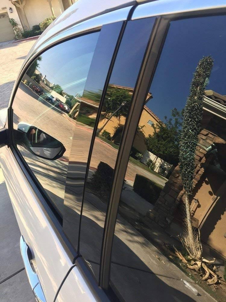 707 Motoring Fits Lincoln MKZ with Keypad 2013-2018 Glossy Black Window Pillar Posts Trim 8PCS